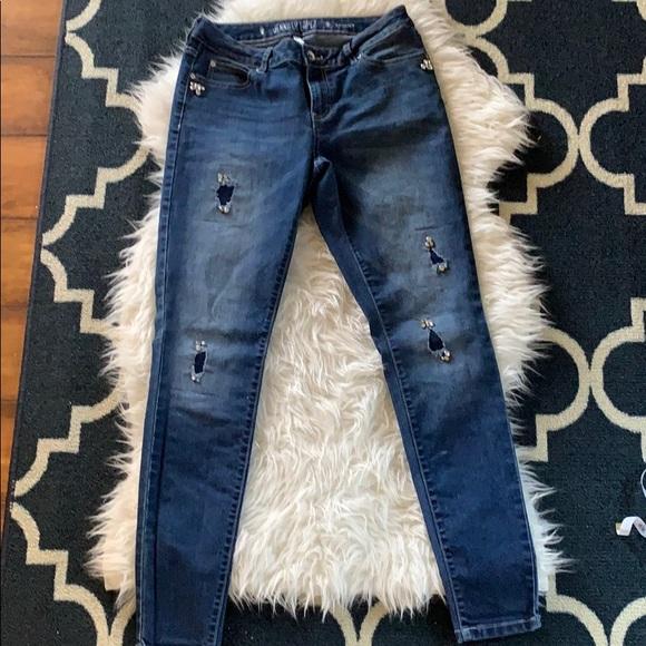 Denim - Jennifer Lopez destroyed embellished (bling) jeans